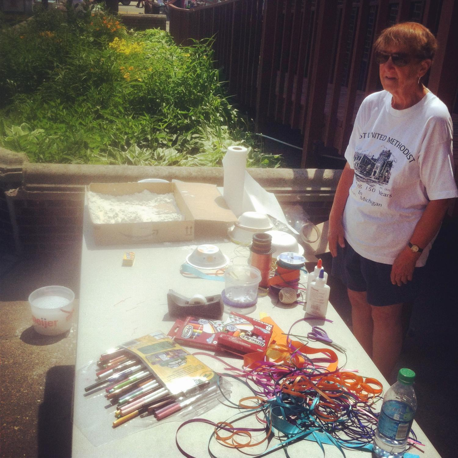 The start of the day at the Children's Corner craft table